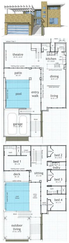 Plan #64-195 | 2592 SF | 4 Bed | 2.5 Bath | 2 Car | 2 Story