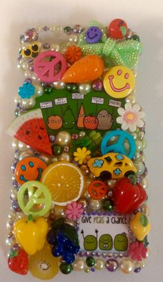 VEGAN Girl Love Hippy Handmade Hippie Made to Order Peace Cell Phone Case Homemade IPhone 4 5 6 Plus Samsung by ExpressiveCases on Etsy
