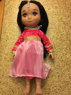 "Disney Store ""It's A Small World"" animator East Indian india singing doll WORKS! #Disney #Dolls"