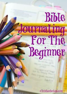 Are you need a boost to learn about how to be creative in your worship time? Bible Journaling for the beginner is a great introduction with details Bible Journaling For Beginners, Bible Study Tips, Bible Study Journal, Scripture Study, Bible Lessons, Bible Art, Art Journaling, Journal Art, Journal Ideas