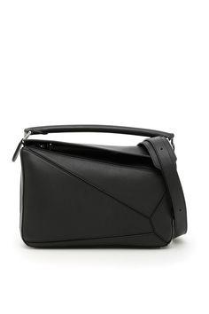LOEWE LEATHER PUZZLE BAG. #loewe #bags #shoulder bags #hand bags #leather #lining #