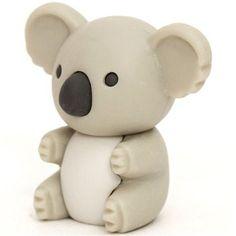 light grey koala bear eraser by Iwako from Japan - Hobbies paining body for kids and adult Polymer Clay Animals, Polymer Clay Crafts, Kawaii Shop, Kawaii Cute, Koala Craft, Eraser Collection, Cool Erasers, Fondant Animals, Modes4u