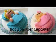 Cupcakes Para Baby Shower Tiernos y Muy Faciles De Hacer - Madelin's Cakes - YouTube