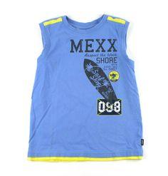 blue tank top, Mexx for boys, blue Mexx t-shirt