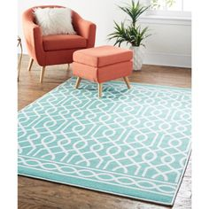 A sophisticated lattice motif is cheerfully cast in the timeless style of Mohawk Homes Twisted Rope Area Rug. Fabulously finished with Mohawk Homes advanced print technology, each style in the Soho Collection showcases a subtle sheen, crisp color clarity and defined details.