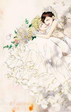Wedding!!!!! HARUHI x TAMAKI!!!!! Wow. This colouring is so beautiful!
