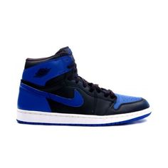 d59aa0a4f5a5fa 136066 041 Air Jordan 1 Retro Jordans 1s Mens Basketball Shoes Black Blue  A01003 Jordan 1