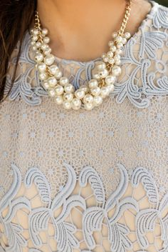 With layers of pretty pearls, it's hard not to resist this darling piece…