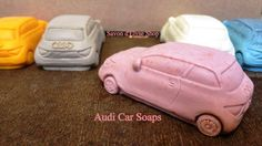 Audi Car Soaps {Buy Individually for Childrens Birthday Party Baby Shower Gift Favors}