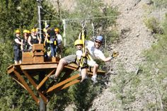 Well trained guides go tandem zipping with the young-ins at Yellowstone ZipLine Tours!