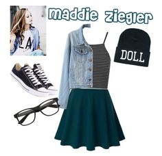 """""""Maddie Ziegler"""" by fashiondaisy25 ❤ liked on Polyvore featuring Doublju, Topshop, Converse and dancemoms"""