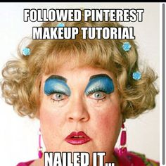 When I try to apply pinterest guided eye make up tutorials. : (