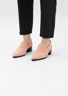 Acne Studios Jaycee Suede Ankle Boot (Powder Pink)