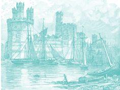 """""""PUERTO CASTILLO"""". Fuente de pinceles utilizados: Castle3; Water_15; LJF Smoke A-sharp#1. Medida: 1600X1200. fecha de elaboración: 23 de agosto de 2013"""