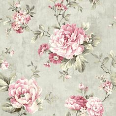 Coralie Slate Peony Trail Wallpaper by Fairwinds Studios Wallpaper. We're having a big sale! Take an additional off all wallpaper and fabric with Discount Code Floral Print Wallpaper, Flower Wallpaper, Wallpaper Backgrounds, Wallpapers, Damask Wallpaper, Floral Wall, Floral Fabric, Floral Prints, Cottage Wallpaper