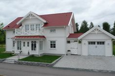 House and inspiration Nordic Home, Scandinavian Home, Country Home Exteriors, Bungalow Homes, American Houses, Red Roof, Dream House Exterior, House Front, House Floor Plans