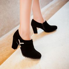 Details about  /New Women Winter Warm Casual Outdoor Chunky Heel Square Toe Ankle Boots 44//48 D