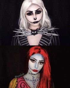 sally nightmare before christmas makeup face paintings Halloween Inspo, Halloween Tags, Halloween Makeup Looks, Diy Halloween Costumes, Christmas Costumes, Halloween Cosplay, Costume Ideas, Skeleton Costumes, Halloween Halloween