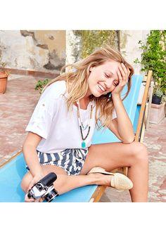 Capsule Mai // TShirt Roberta, Short Dolce et Mocassins Mayfair www.sezane.com…