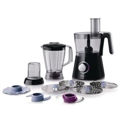 Philips Food Processor, 2 Litre - This Philips Food Processor has a three in one compact set up with a large capacity bowl for mixing and processing, a blender for liquidising and a grinder mill for efficient grinding. It also has four stainless steel discs that enable you to create a variety of dishes, including gratins, salads, cakes and soups.