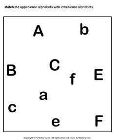 Alphabets Worksheets - Match Upper Case And Lower Case Letters 1 | Turtle Diary