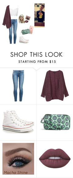 """""""Day 2 shoppin with Taylor"""" by lilybitts ❤ liked on Polyvore featuring Paige Denim, Topshop, Monki, Converse, Tt Collection, Vera Bradley and Lime Crime"""