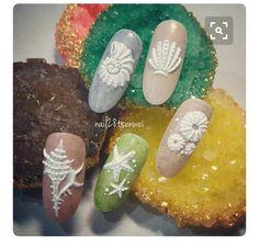 58 Hottest Beach Nail Ideas Designs for Summer 3d Nail Art, Cool Nail Art, Fabulous Nails, Perfect Nails, Seashell Nails, Sea Nails, Mermaid Nails, Holiday Nails, Nails Polish