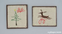 Positively Splendid {Crafts, Sewing, Recipes and Home Decor}: Burlap Christmas Wall Art (Swell Noel #39)