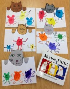 Mouse Paint: Art with Mr. Giannetto Definitely a new mouse paint plan for next year! First Grade Art, 2nd Grade Art, Kindergarten Art Lessons, Art Lessons Elementary, Elementary Art Rooms, Primary And Secondary Colors, Album Jeunesse, Art Activities, Mouse Paint Activities