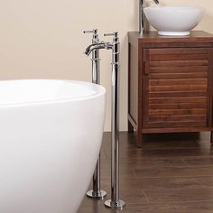Bath Stand Pipes - Chrome Finish Bath Stand Pipes for water supply pipes which are visible with free-standing Baths.