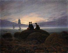 Painting: Moonrise by the Sea by Caspar David Friedrich, 1822