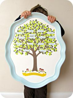 DIY family tree. Adore this.