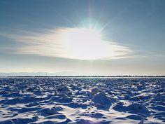 Frozen Amur river