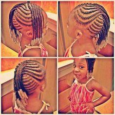 Elegant Cute Little Girl Braids With Beads Little Girl Braid Styles, Kid Braid Styles, Little Girl Braids, Black Girl Braids, Braids For Kids, Girls Braids, Kid Styles, Children Braids, Kid Braids