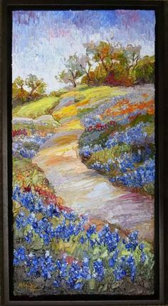 "Contemporary Artists of Texas: ""Spring's Approach"" New Texas Bluebonnet painting by Niki Gulley"