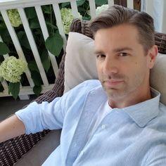"Mark Gisi on Instagram: ""Linen and Hydrangea season"" Hydrangea Season, Portofino Shirt, Mother Of Pearl Buttons, Perfect Fit, Elegant, Instagram, Fashion, Classy, Moda"