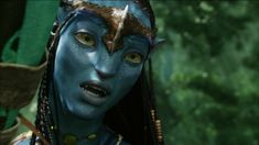 Blu-ray Screen capture from the 2009 movie, Avatar. Avatar James Cameron, Blue Avatar, Avatar Movie, Black Girl Cartoon, Dc Heroes, Drama Movies, Film Movie, Cinematography, Music Artists