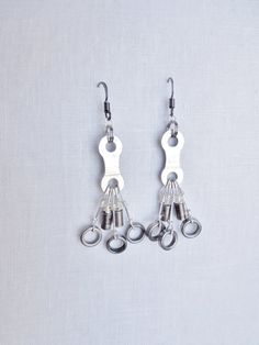 Bicycle Chain Earrings Bicycle Jewelry  Bicycle Accessories  Earrings. $18.00, via Etsy.