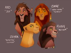The Children of Kovu and Kiara by JaeTaz on DeviantArt Lion King 2 Kovu, Lion King Story, Lion King Fan Art, Disney Lion King, Kiara And Kovu, Simba And Nala, Lion King Names, Hakuna Matata, The Lion King Characters