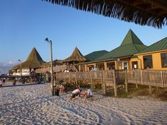 Juana's Pagodas Beach Bar, Navarre Beach, Florida.