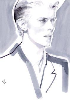 Fashion illustration face design david downton Ideas for 2019 David Downton, Fashion Illustration Face, Illustration Mode, Fashion Illustrations, Design Illustrations, Fashion Show Poster, David Bowie Art, Portraits, Portrait Ideas