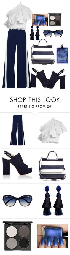 """Blue"" by maame-grant ❤ liked on Polyvore featuring Norma Kamali, CECILIE Copenhagen, Gianvito Rossi, Dolce&Gabbana, La Perla, Oscar de la Renta, Gorgeous Cosmetics and The Beautiful Mind Series"