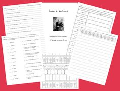Susan B. Anthony Activities (and a FREEBIE!)