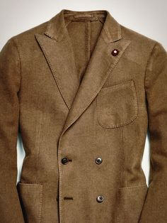downeastandout:    Lardini. Brown Double Breast, Sports court finish. Absolute classic. Great for casual and formal.