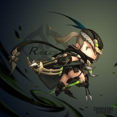 Dungeon Striker - Ranger female / from Dungeon Striker fansite kit