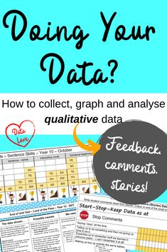 Collate and Graph qualitative data - is it even possible? Anecdotal Evidence, Teaching Style, To Collect, Big Picture, Rubrics, Sentences, Organize, Geek, How To Get