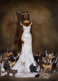 Bastet by nekkuu on DeviantArt Mayan Symbols, Viking Symbols, Egyptian Symbols, Viking Runes, Ancient Symbols, Bastet Goddess, Egyptian Cat Goddess, Egyptian Cats, Egyptian Mythology