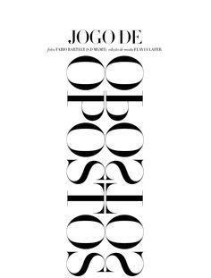 Caroline Trentini by Fabio Bartelt for Harper's Bazaar Brasil 2013, Opostos, Mirror,  Stylelist.ED, stylelistED, Eva Vaughan, typography, type, logo, font, graphic design, minimal, layout.