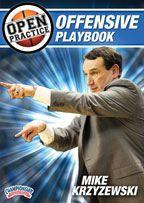 Mike Krzyzewski - Open Practice: Offensive Playbook - Coach's Clipboard #Basketball DVD Store