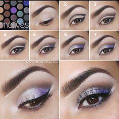 Silver lilac makeup tutorial